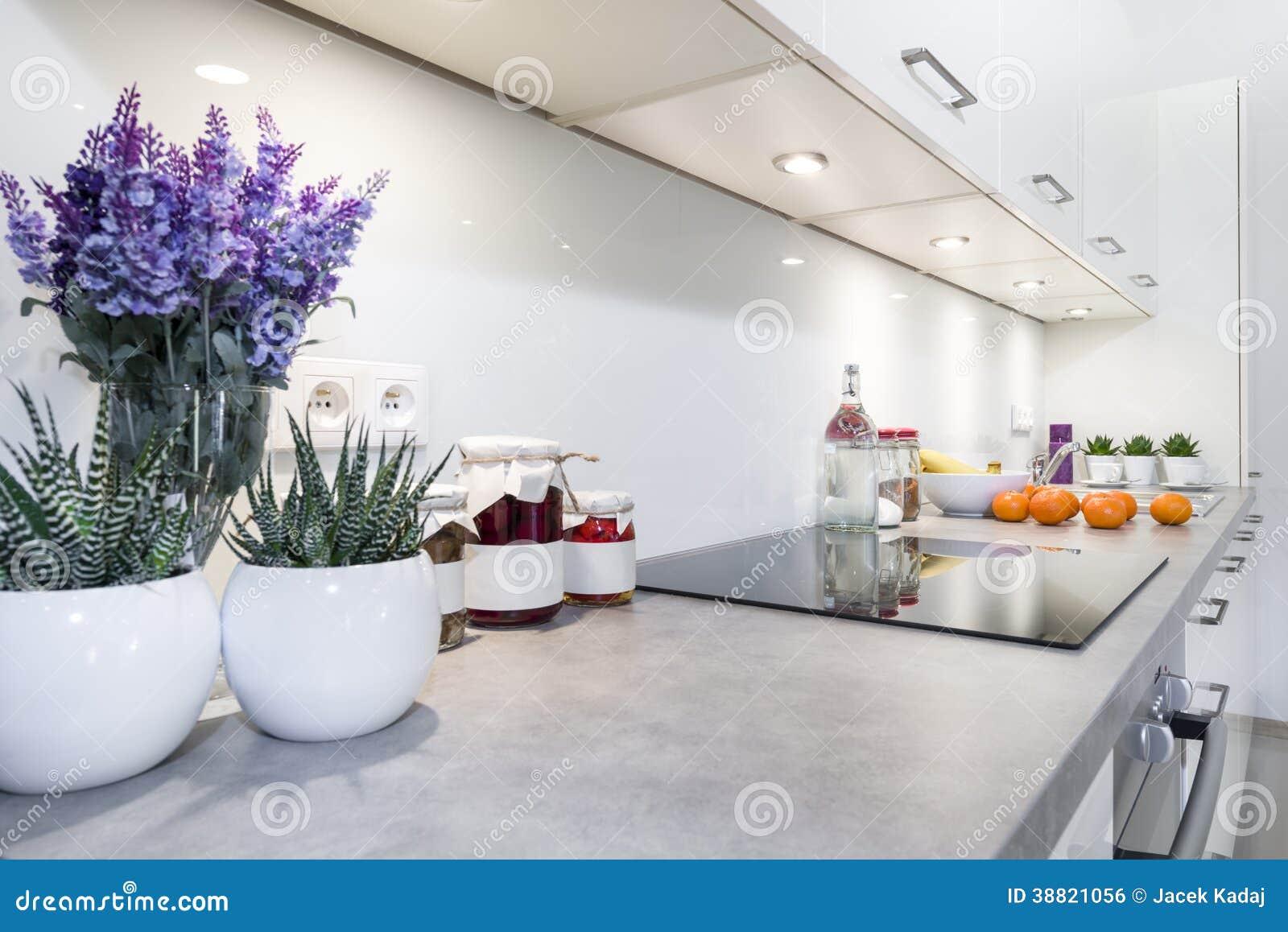 Design De Interiores Moderno Da Cozinha Foto de Stock Imagem  #654783 1300 958
