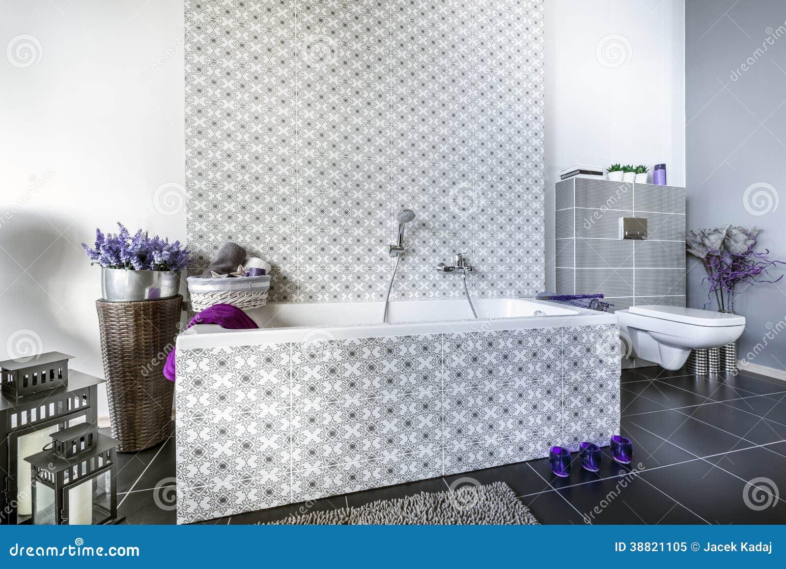 Design De Interiores Moderno Do Banheiro Foto de Stock Imagem  #693779 1300 958