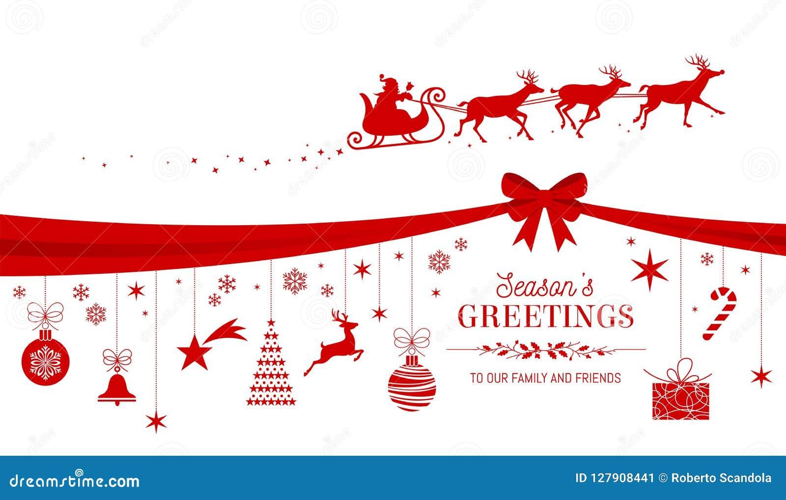 Weihnachtsgrüße Jpg.Design Der Roten Karte Der Weihnachtsgrüße Vektor Abbildung