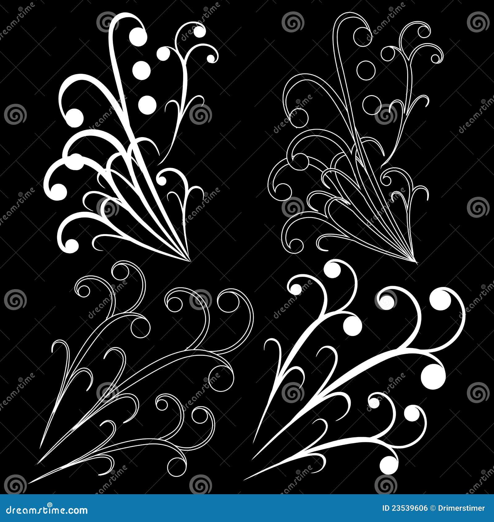 Design Element On A Black Background Stock Illustration