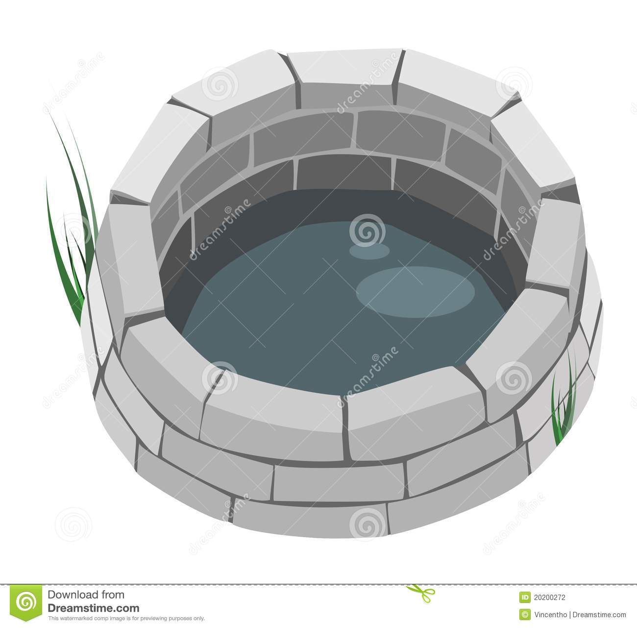 Well Design: A Brick Well. Stock Photography