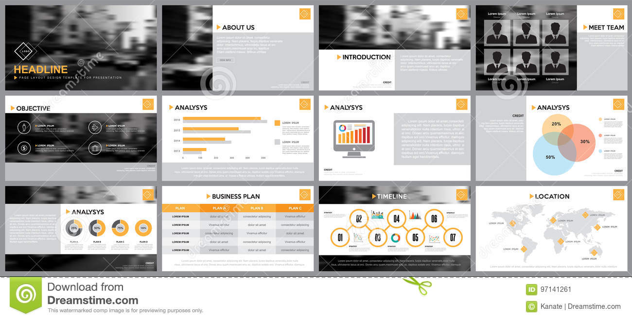 Design Element Of Infographics For Presentations Templates Stock