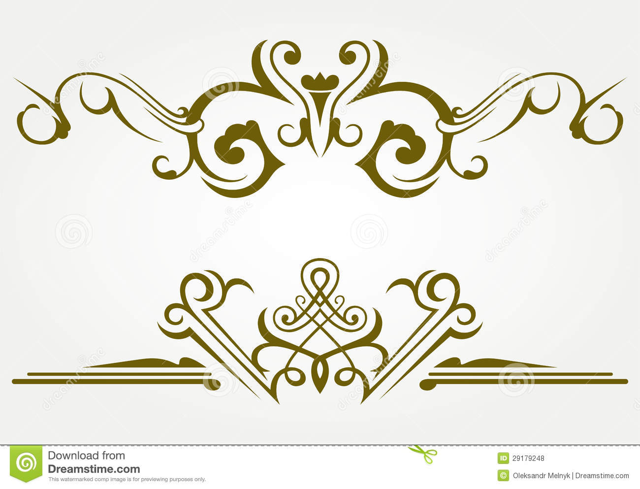 Design element and page decoration royalty free stock for Decoration page
