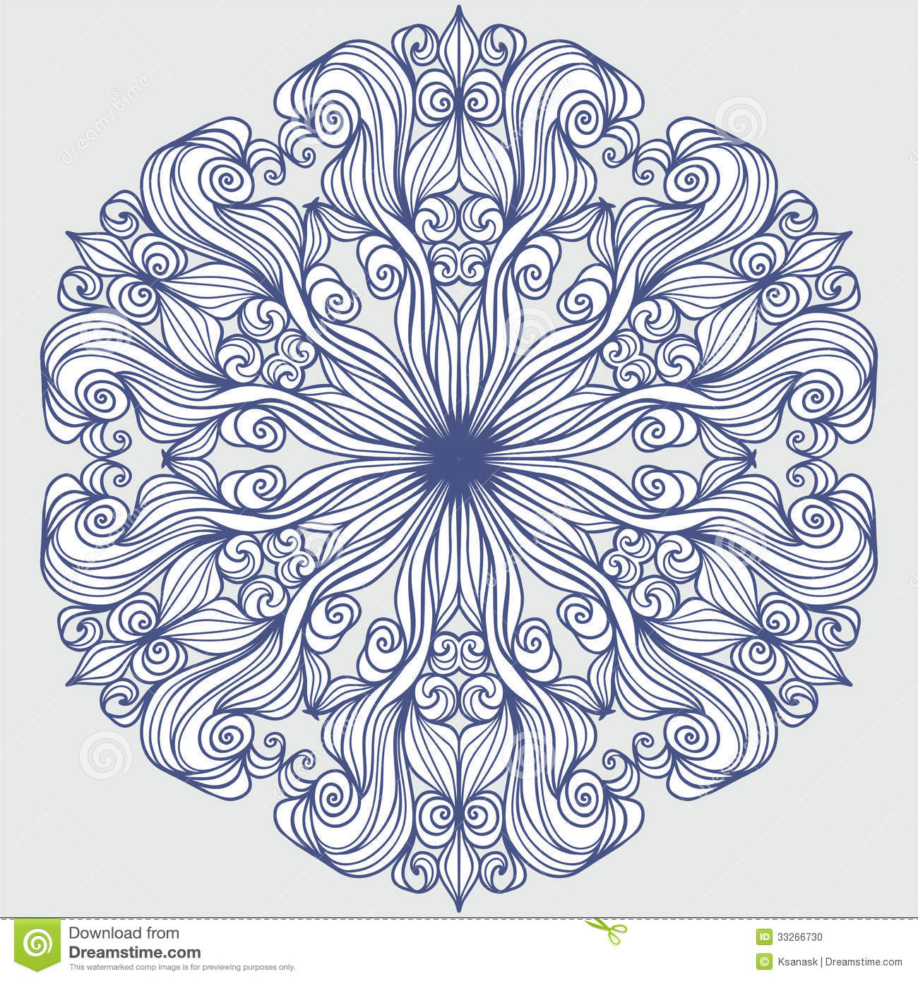 Colour Line Art Design : Design element round pattern stock vector image