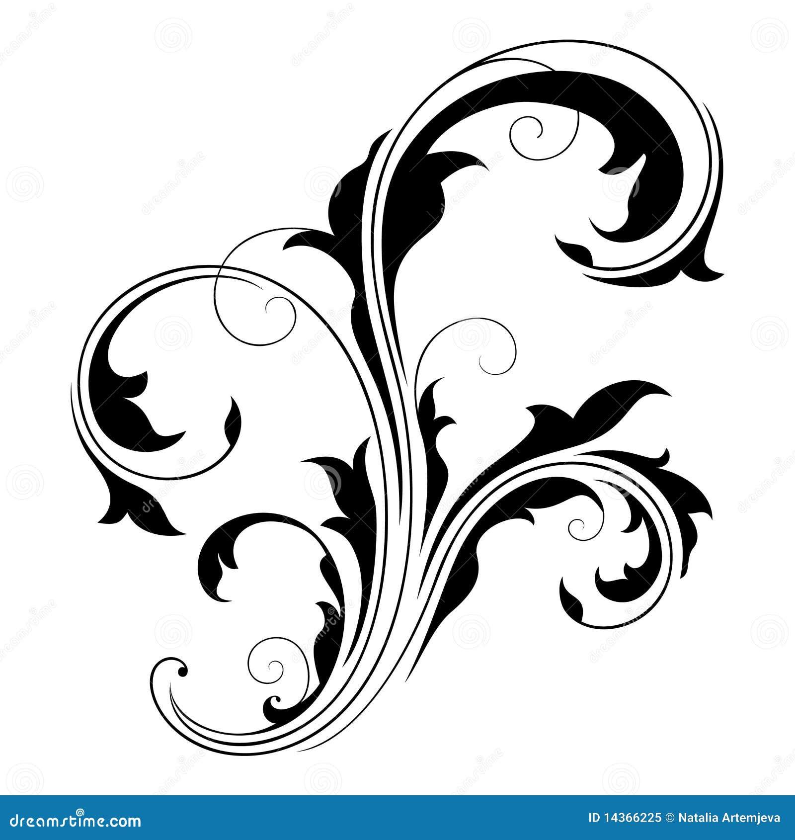 design element swirls 2 stock vector illustration of black 14366225. Black Bedroom Furniture Sets. Home Design Ideas
