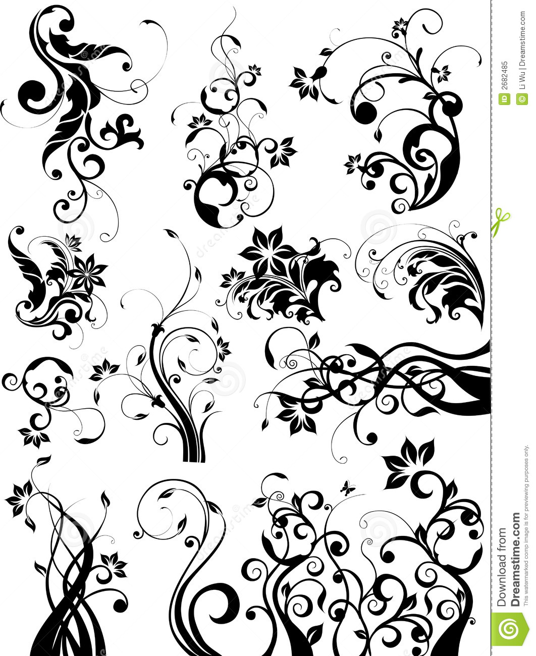 Design elements stock vector. Illustration of plant ...
