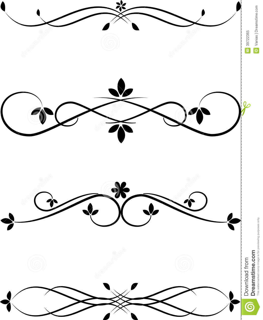 Pin Calligraphic Frame Border Designs In Various Shapes