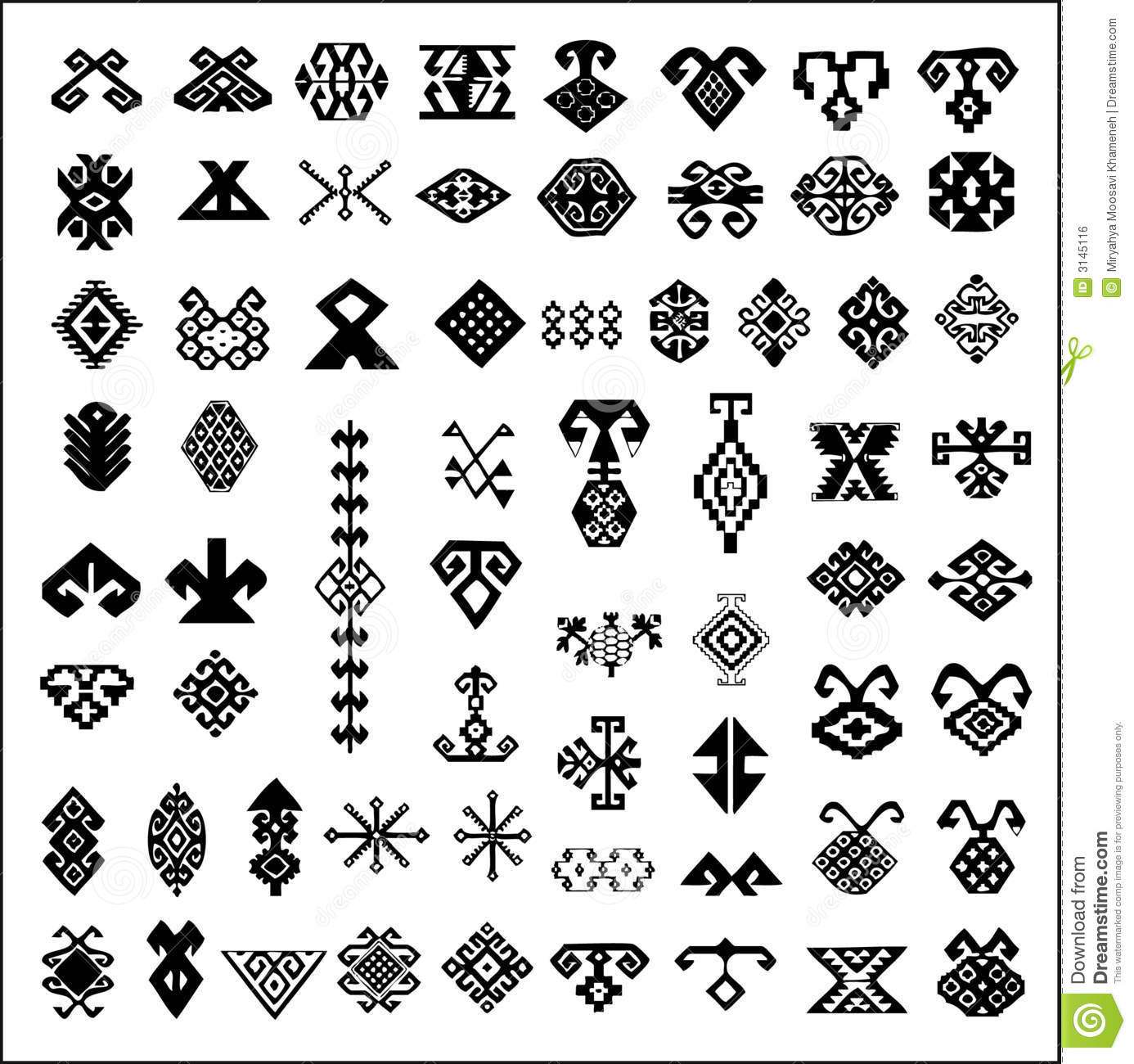 persian carpet symbols