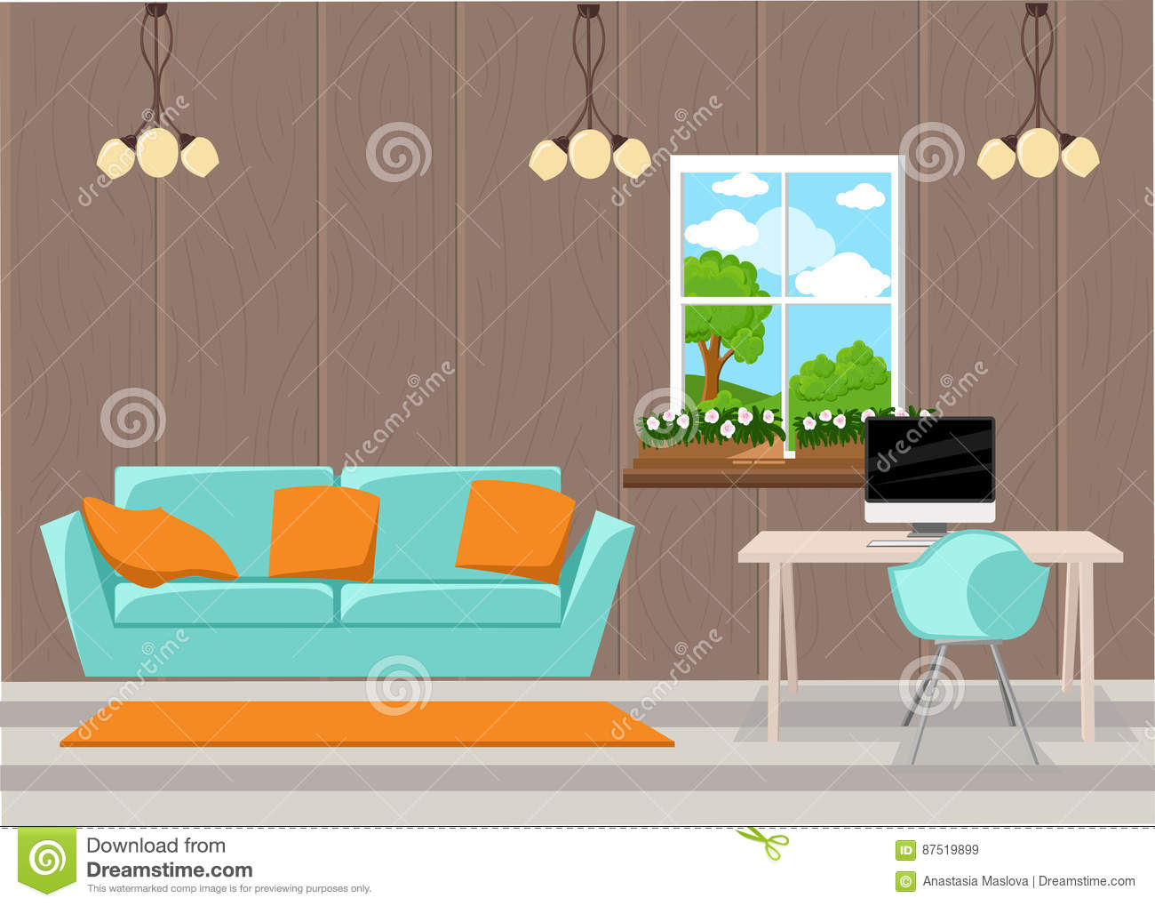 design elements living room furniture in mid century modern style
