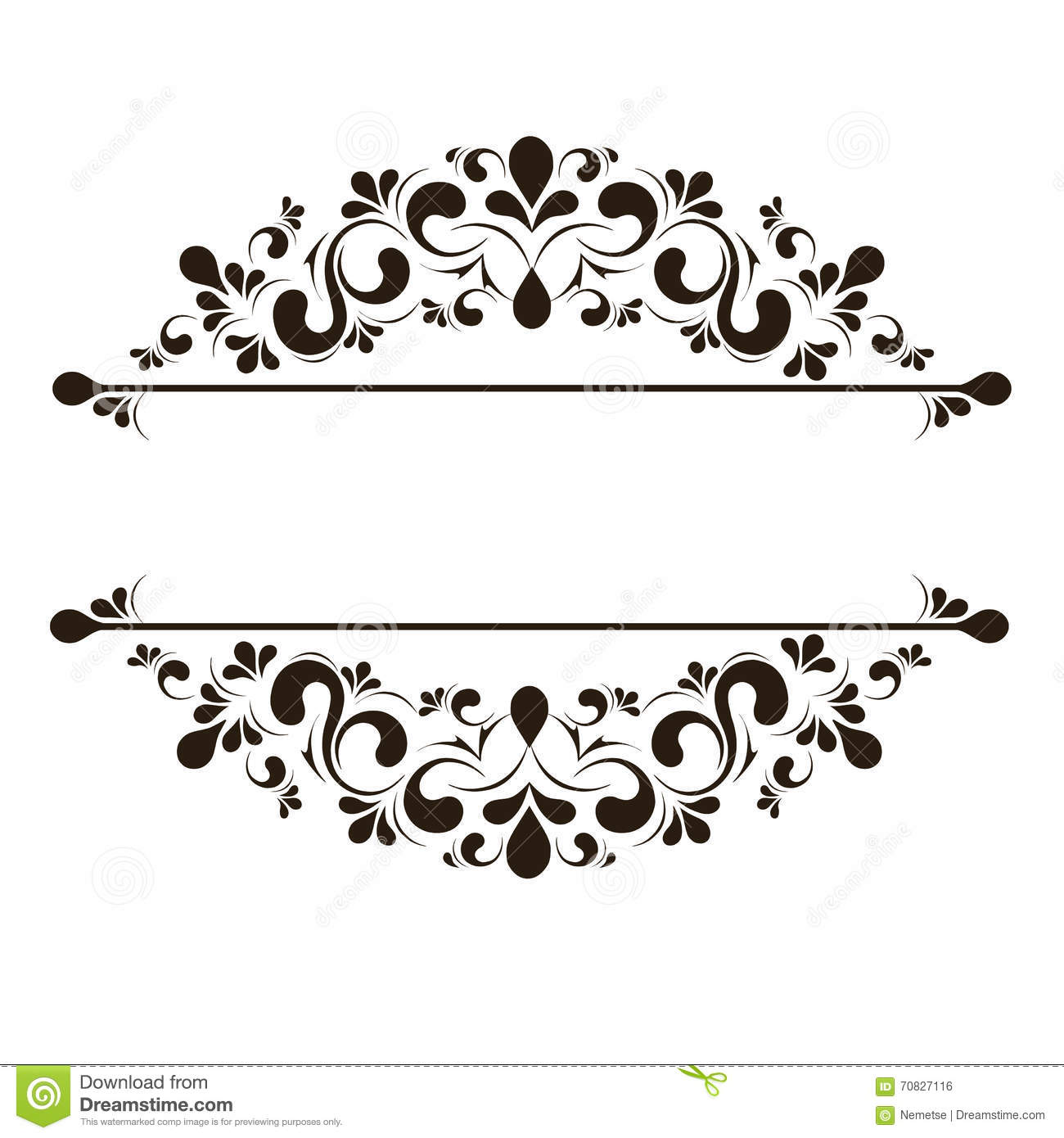 design elements for page border stock vector image 70827116 Wedding Invitation Page Borders royalty free vector download design elements for page border wedding invitation page borders