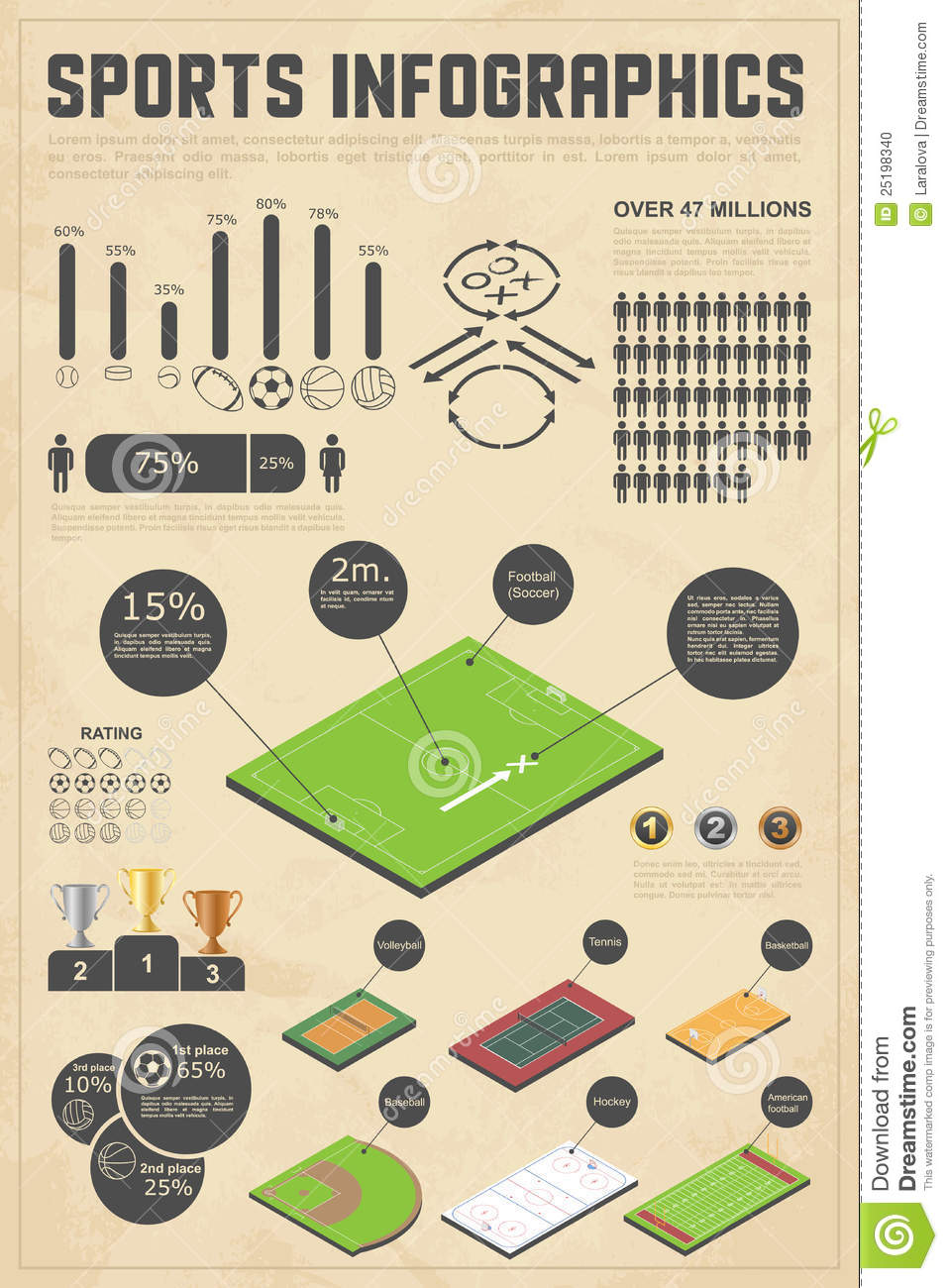 Design elements for sports infographics stock photo for Sports infographics templates