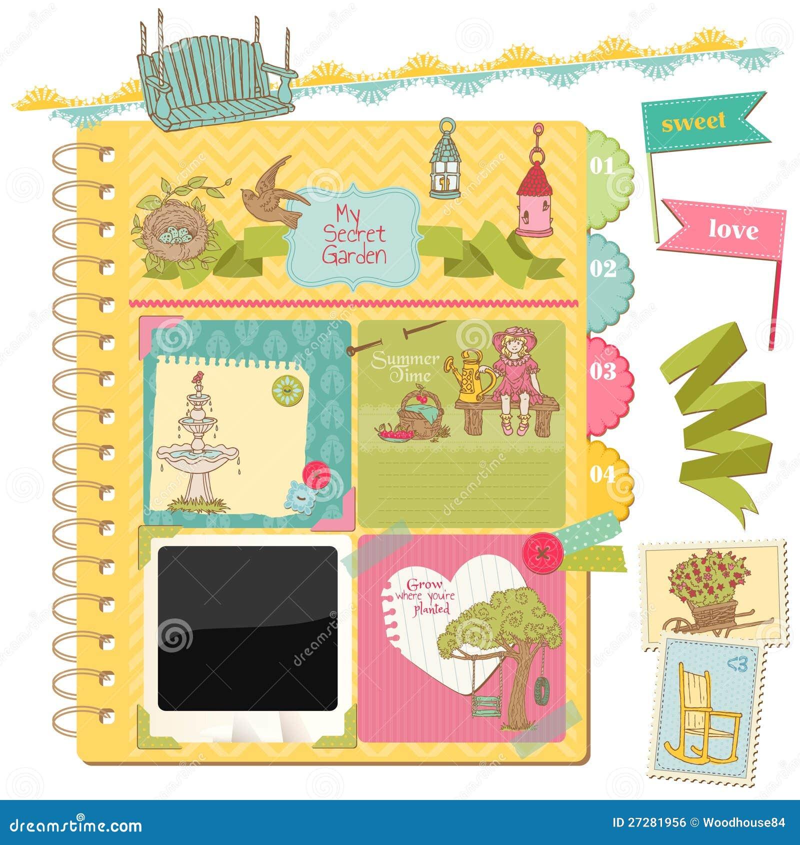 Design elements summer garden royalty free stock image for Garden design elements