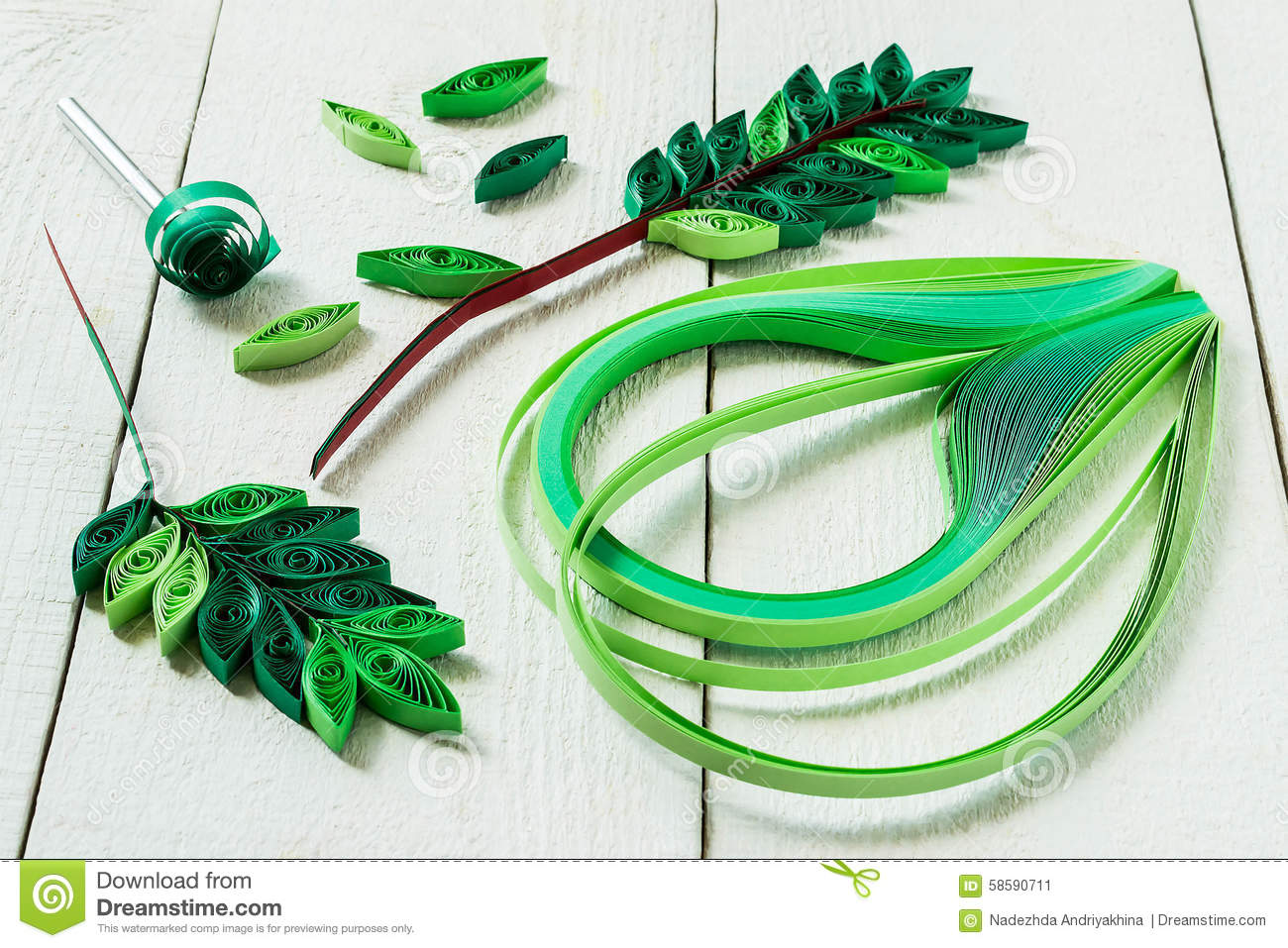 Design elements in the technique of quilling leaves rowan stock photo image 58590711 - How to use creative lighting techniques as a design element ...