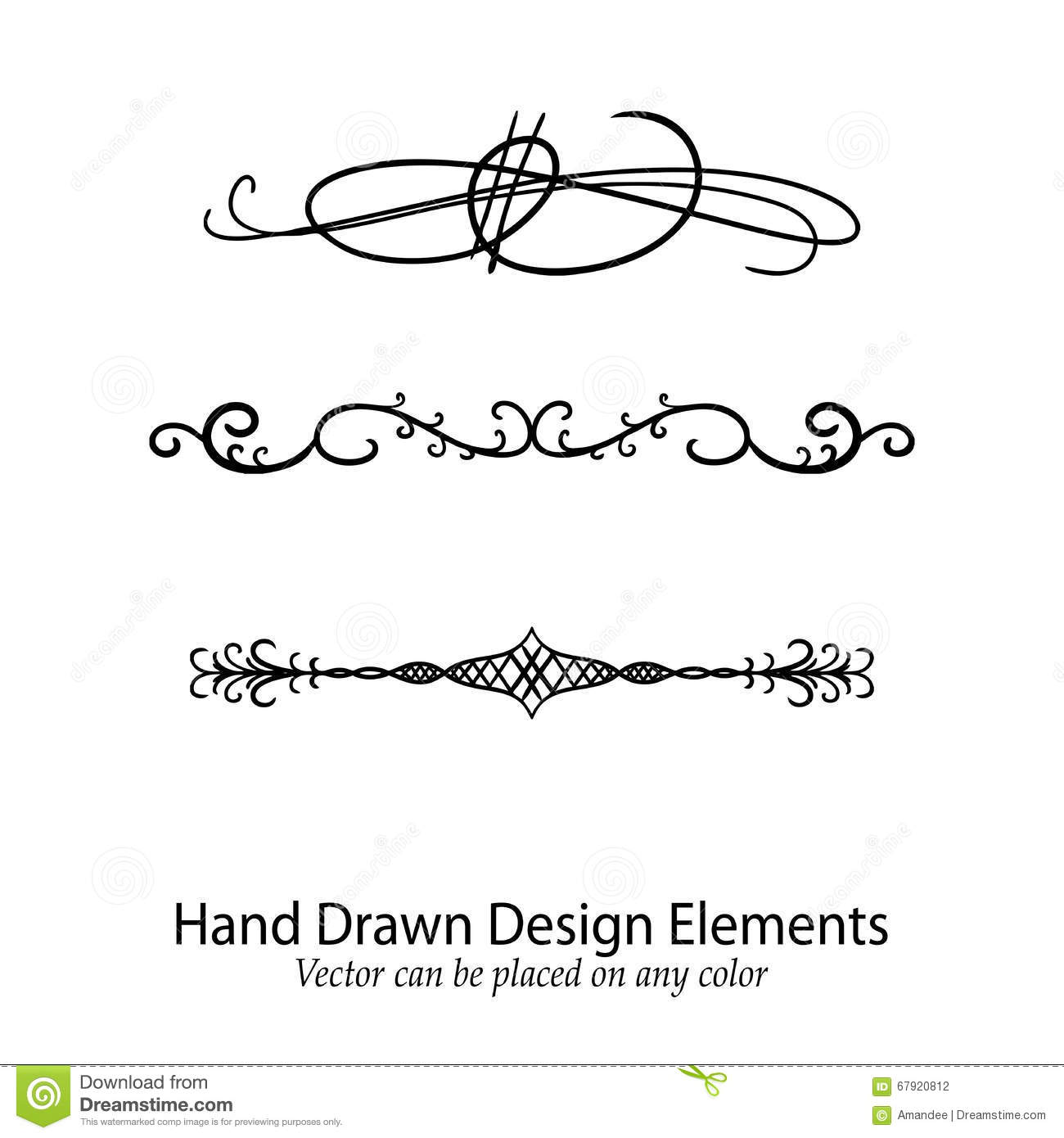 vintage decorative text dividers collection  hand drawn vector vector illustration