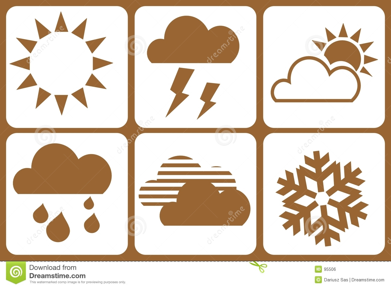Design Elements - Weather Royalty Free Stock Image - Image: 95506