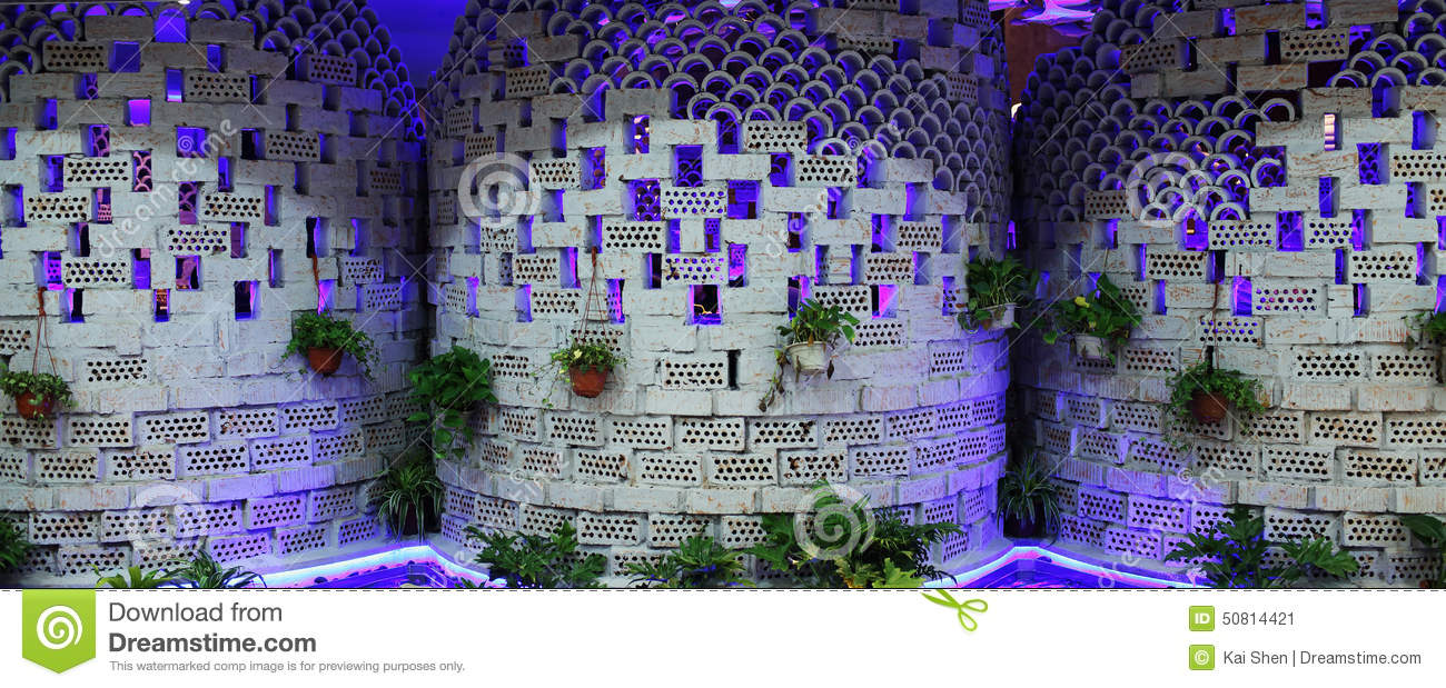 design the exterior wall of a restaurant stock photo - image: 50814421
