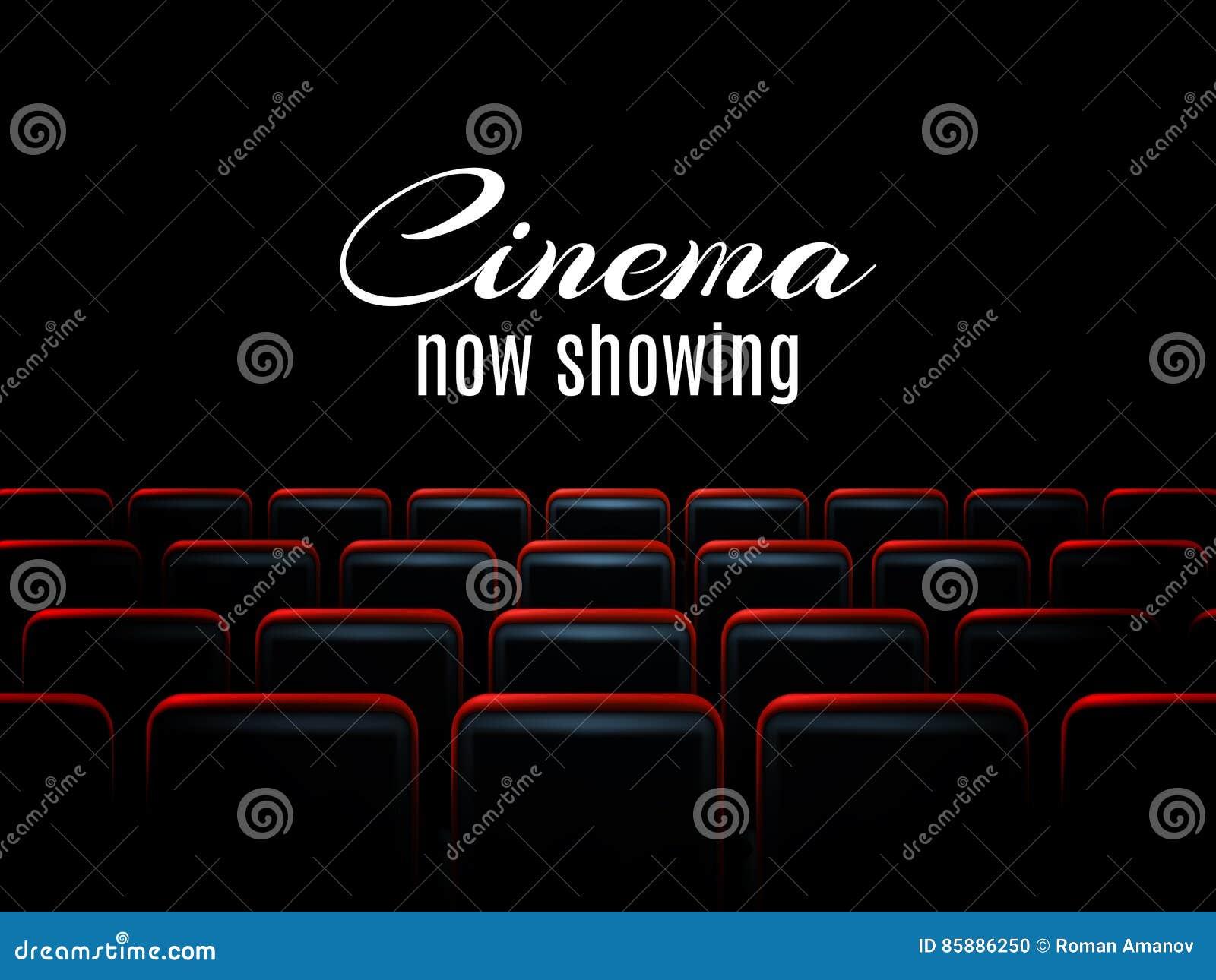 Design för affisch för filmbiopremiär med röda platser Det kan vara nödvändigt för kapacitet av designarbete