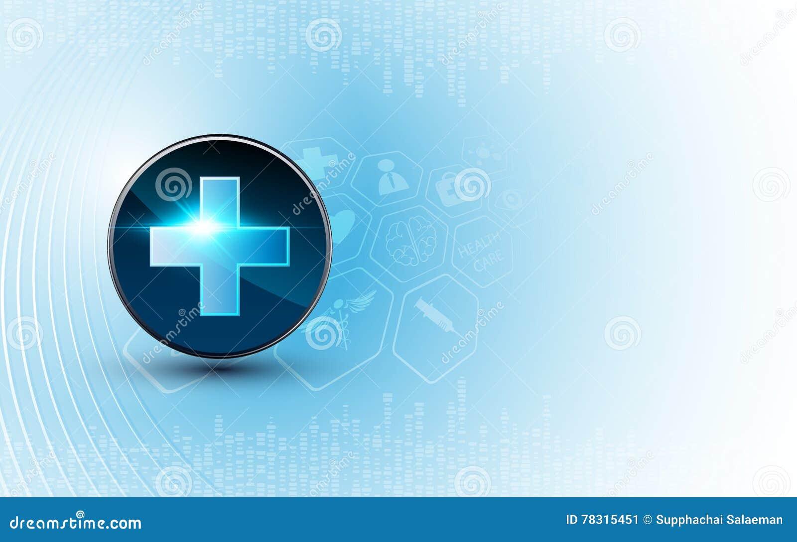 Design för begrepp för innovation för teknologi för medicinsk bakgrund för vektor
