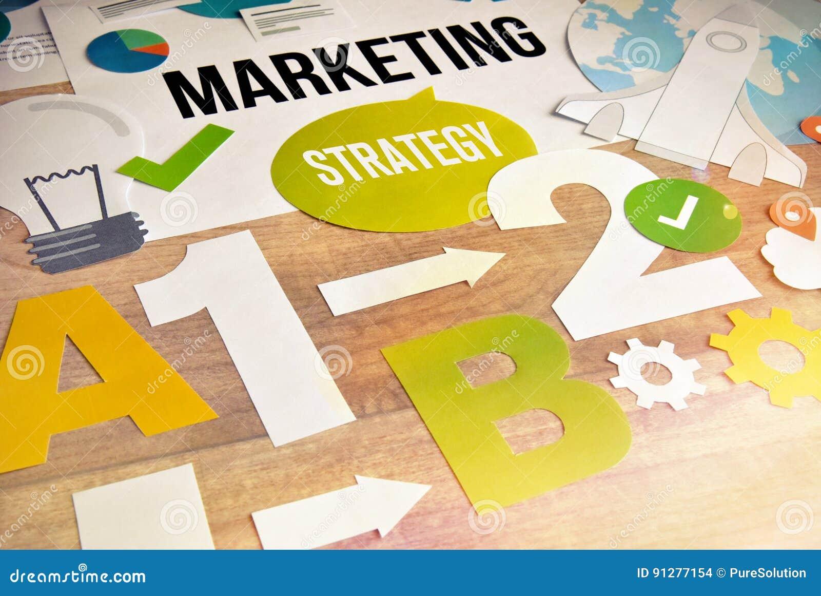 Design för begrepp för marknadsföringsstrategi