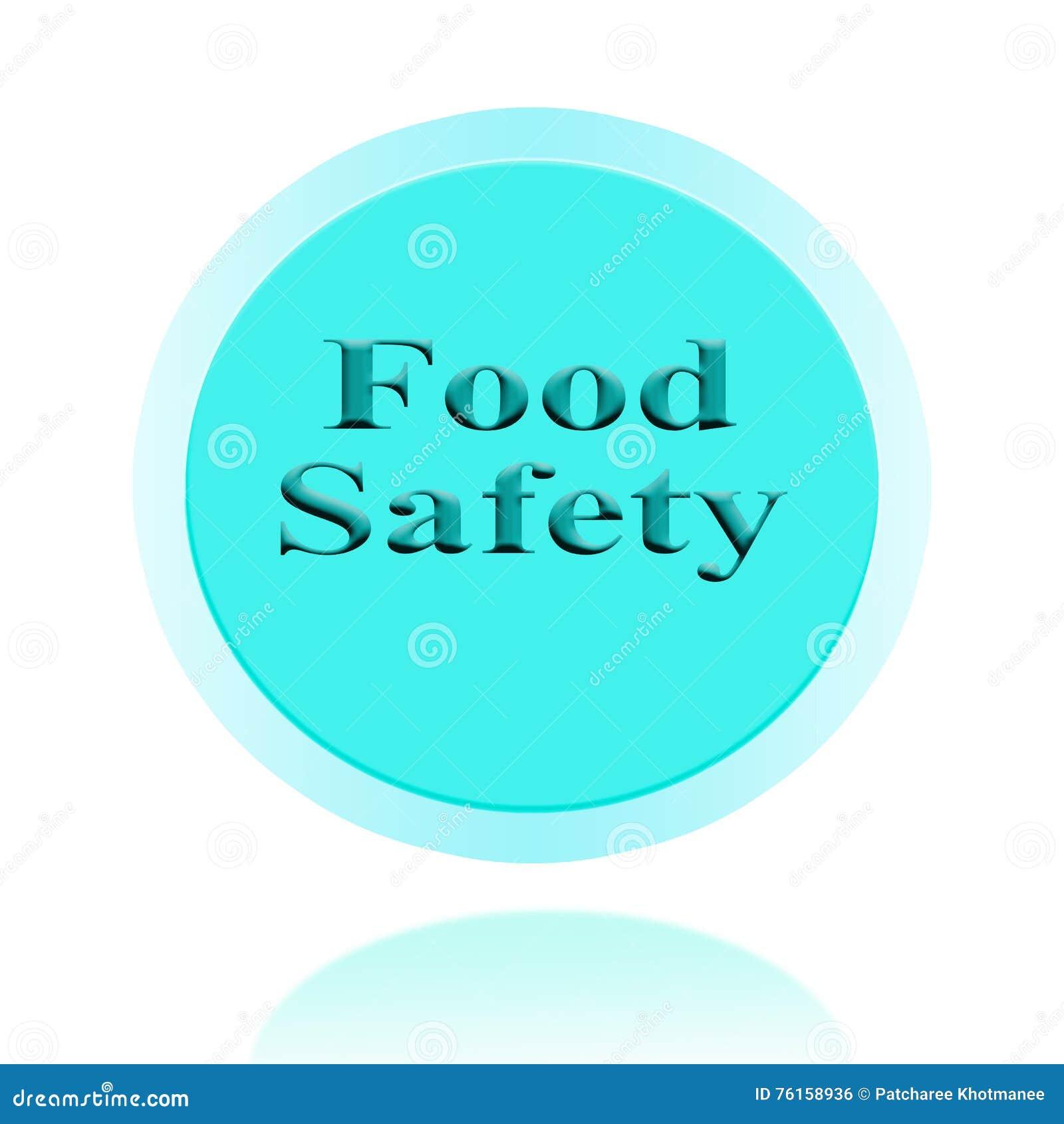 Design för begrepp för symbol för matsäkerhet eller symbolbildmed affären fo