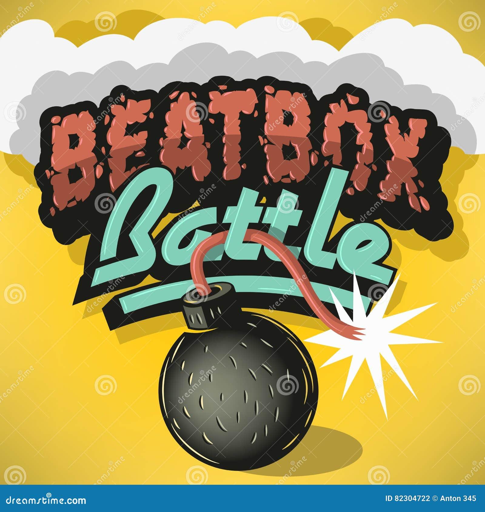 Design för behandling för Beatbox stridtyp Inskrift för rubrik,