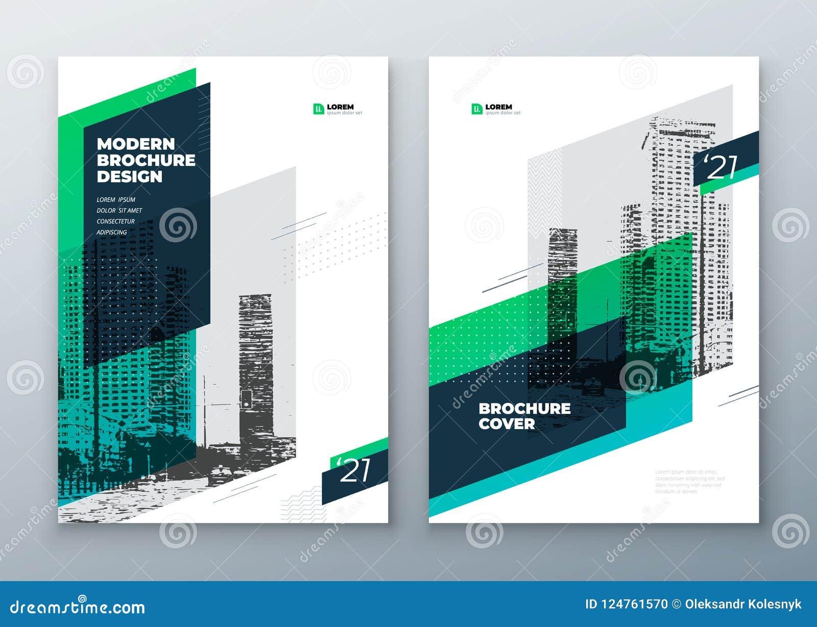 Design för broschyrmallorientering Årsrapport för företags affär, katalog, tidskrift, broschyr, reklambladmodell idérikt