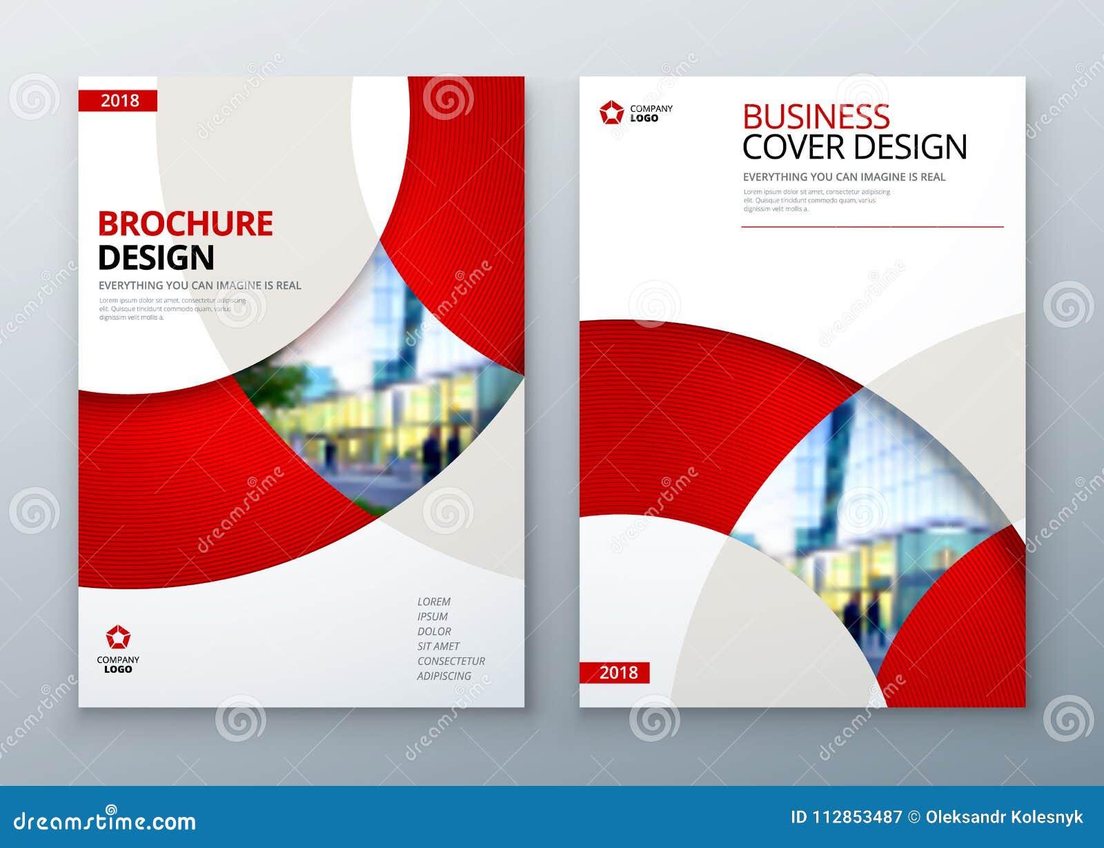 Design för broschyrmallorientering Årsrapport för företags affär, katalog, tidskrift, reklambladmodell Idérikt modernt