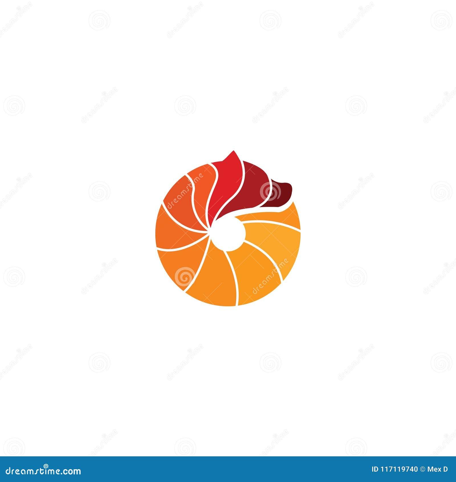 Design för cirkelbjörnlogo med enkelt begrepp