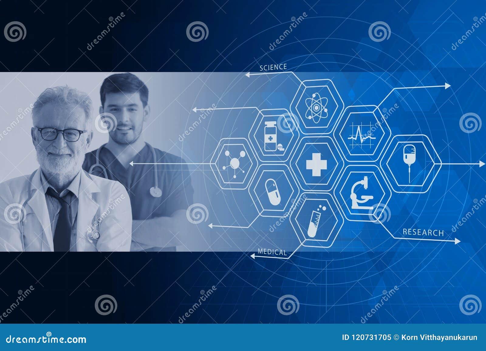 Design för diagram för backgrond för samkopiering för service för doktorssjukhusmedicinsk vård