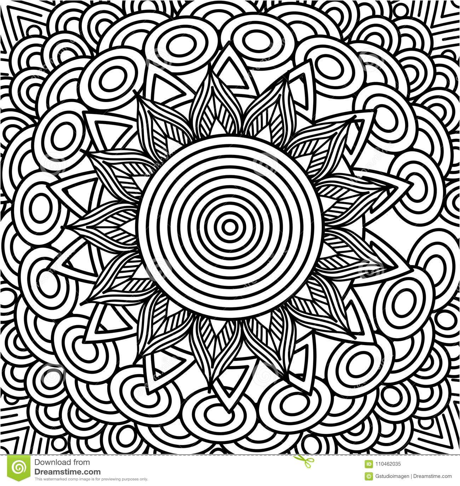 Design för färgläggning för dekorativ etnisk beståndsdel för Mandala vuxen