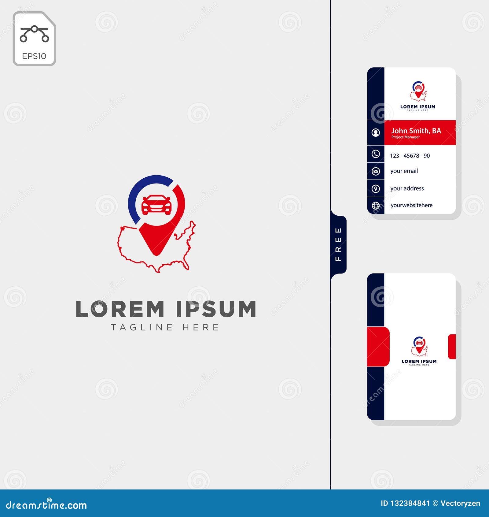 Design för kort för affär för amerikansk för loppnavigatörlogo för mall illustration för vektor fri