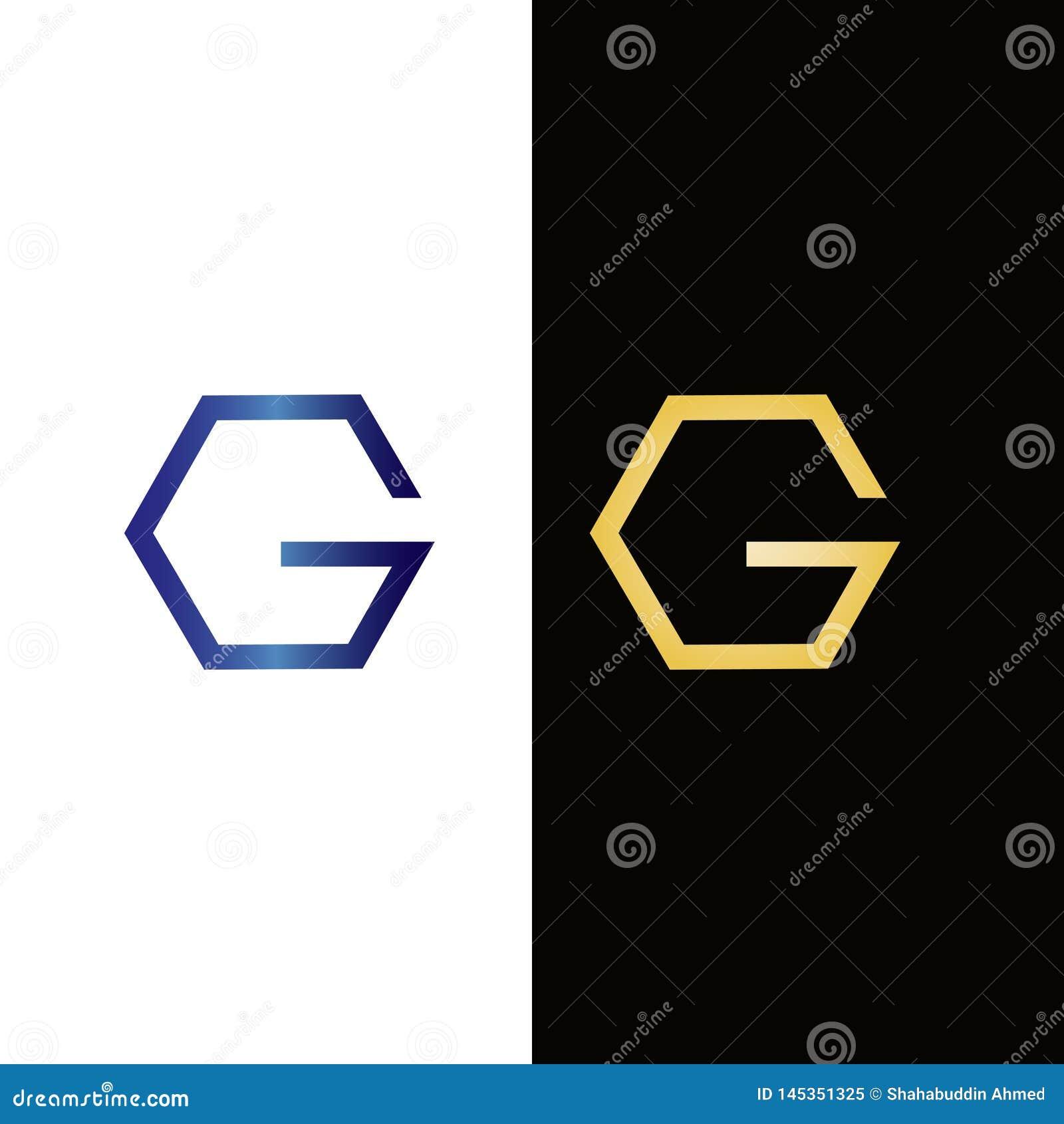 Design för logo för sexhörningsbokstavsG Fastighetlogo eller symbol för ditt företag