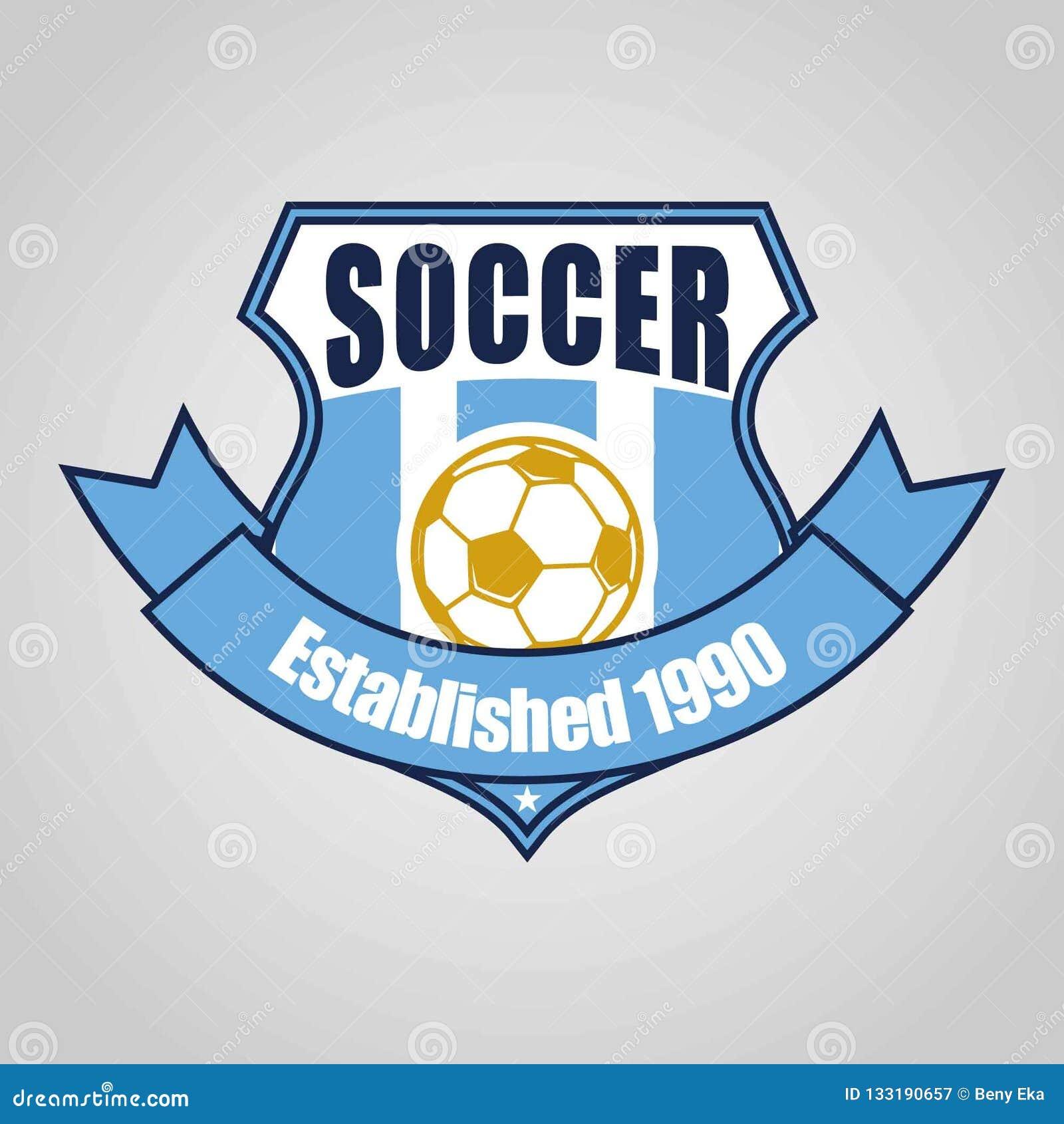 Design för mall för logo för fotbollfotbollemblem, fotbolllag, vektor Sport symbol