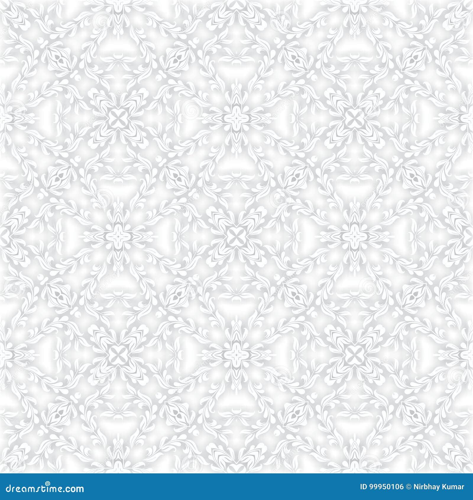 DESIGN för MODELL 3d för dekorativ FÄRGvektor SÖMLÖS blom-