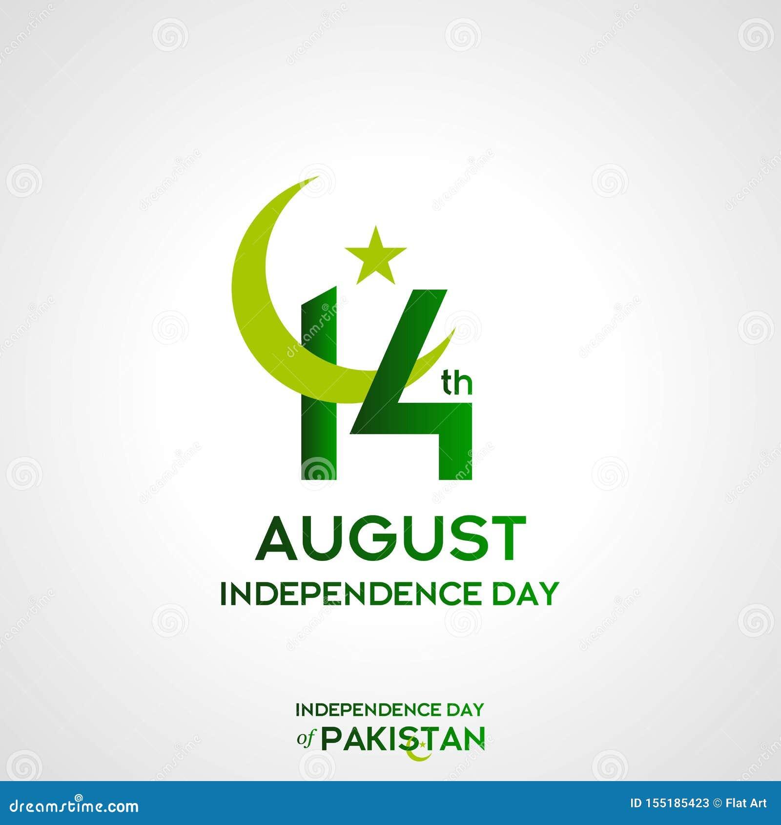 Design för Pakistan självständighetsdagentypografi Idérik typografi av för vektormall för 73rd lyckliga självständighetsdagen den