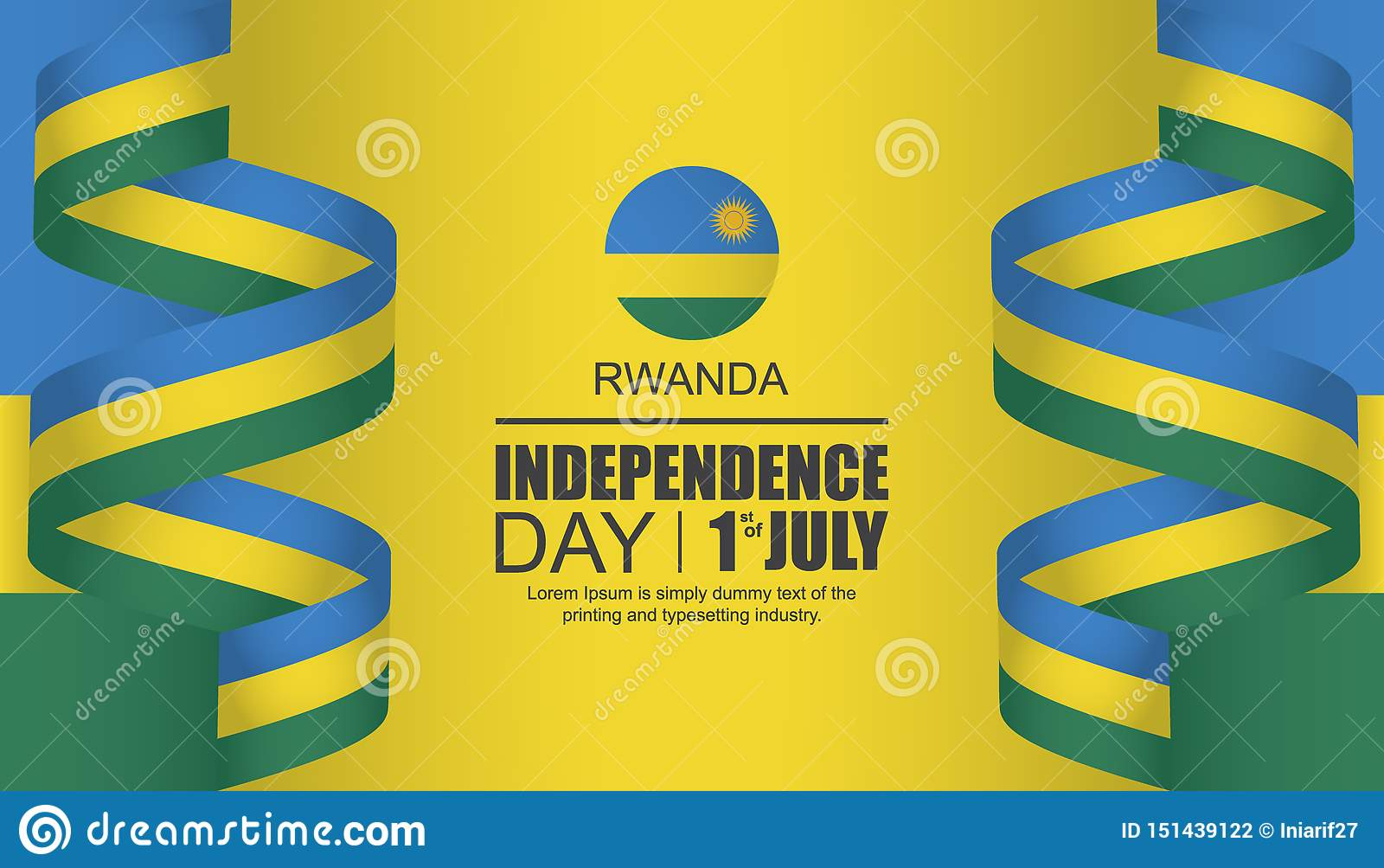 Design för Rwanda självständighetsdagenmall