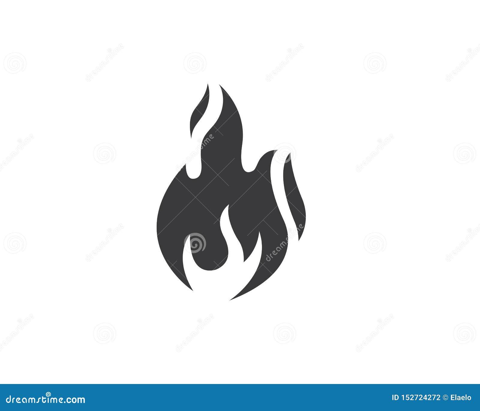 Design för symbol för brandflammavektor