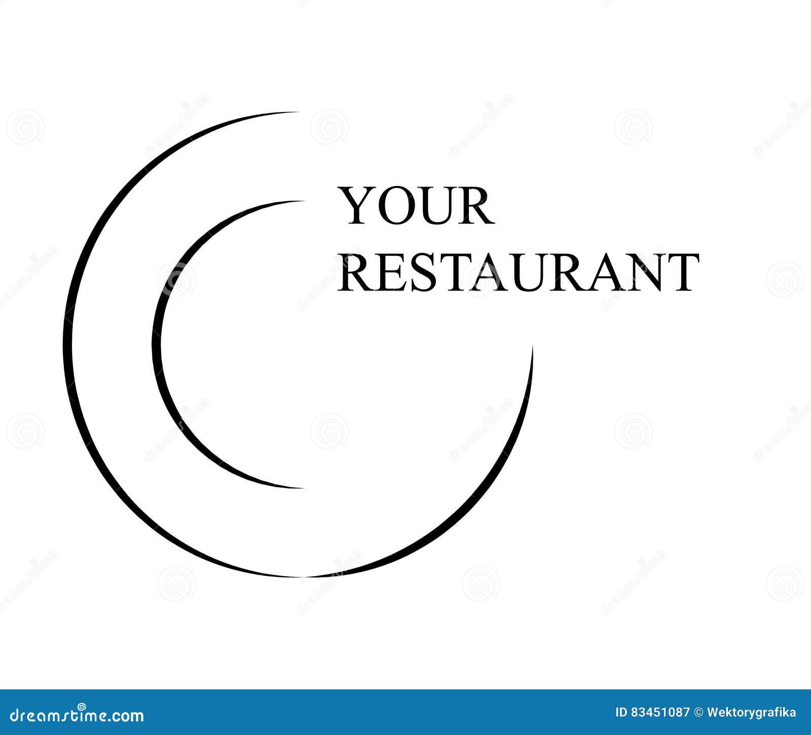 Design för symbol för symbol för restauranglogovektor