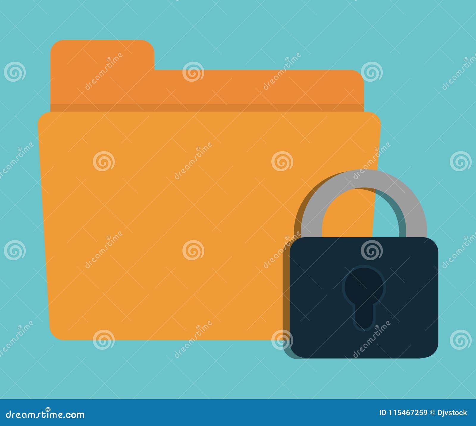 Design för system för säkerhet för hänglåsmappcyber