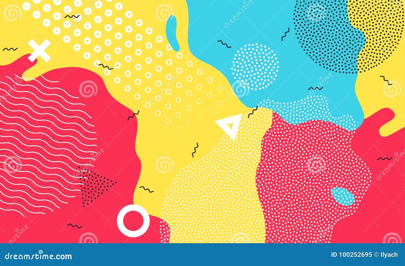 Design för unge för färgrikt för tecknad filmfärgfärgstänk för bakgrund barnsligt för lekplats abstrakt begrepp för vektor geomet