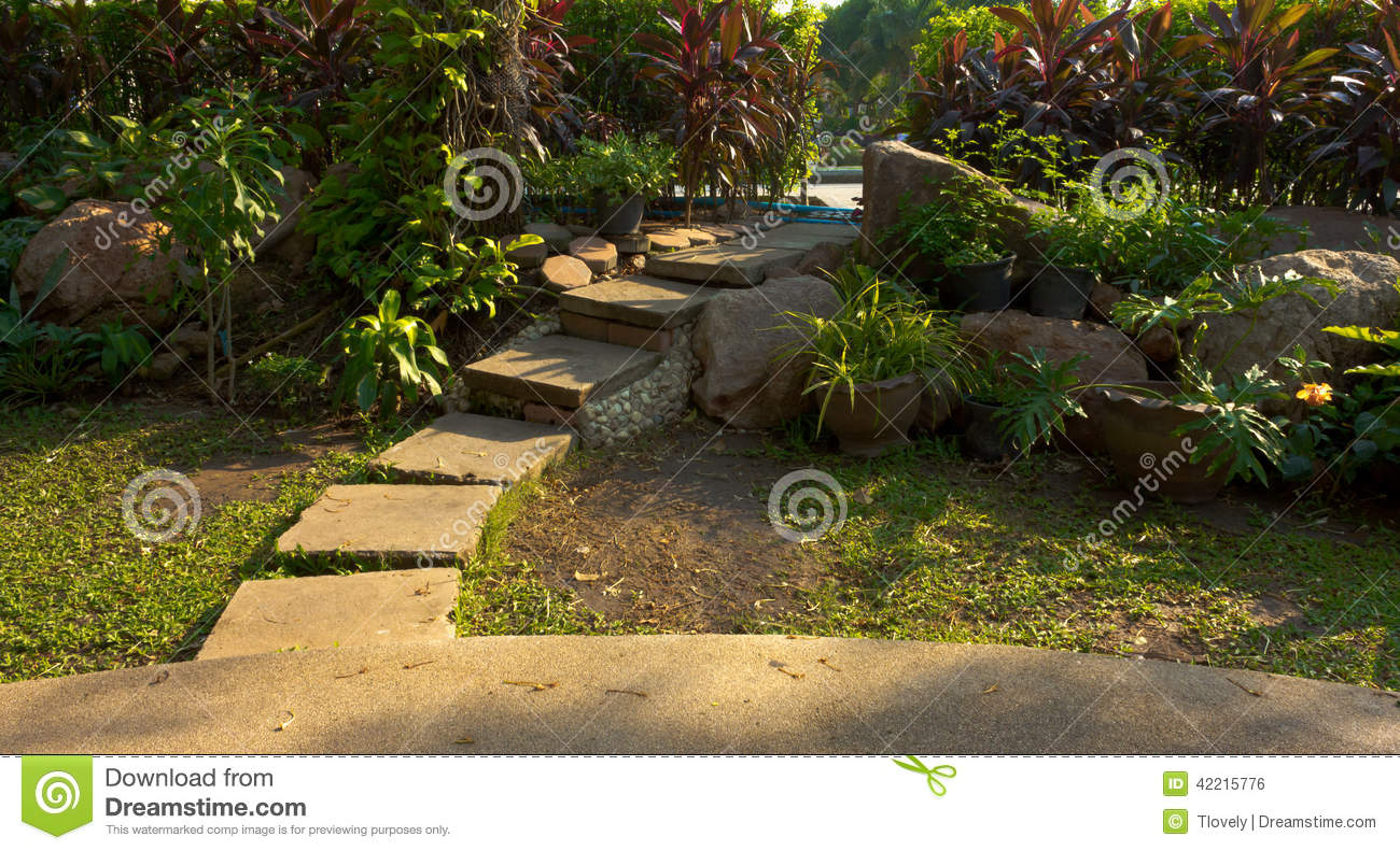Design flowery garden stock photo. Image of cottage, beautiful ...