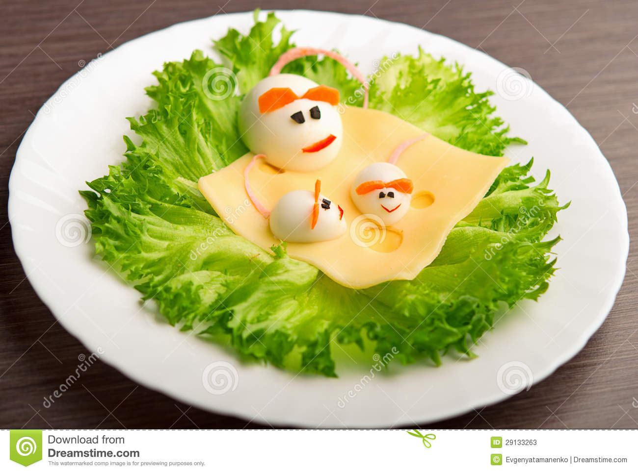 Design Of Food For Children Eggs In The Shape Of Mouse