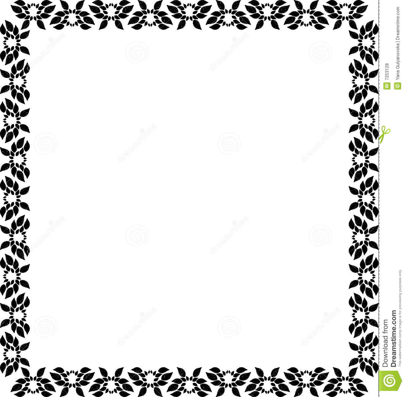 Design frame stock vector. Illustration of leaf, nature - 7253128