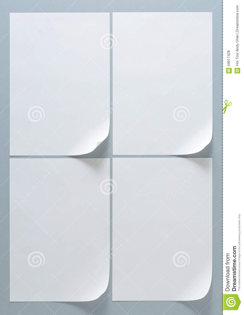 Design Frame Layout A4 Size Paper Stock Photo - Image: 59917428