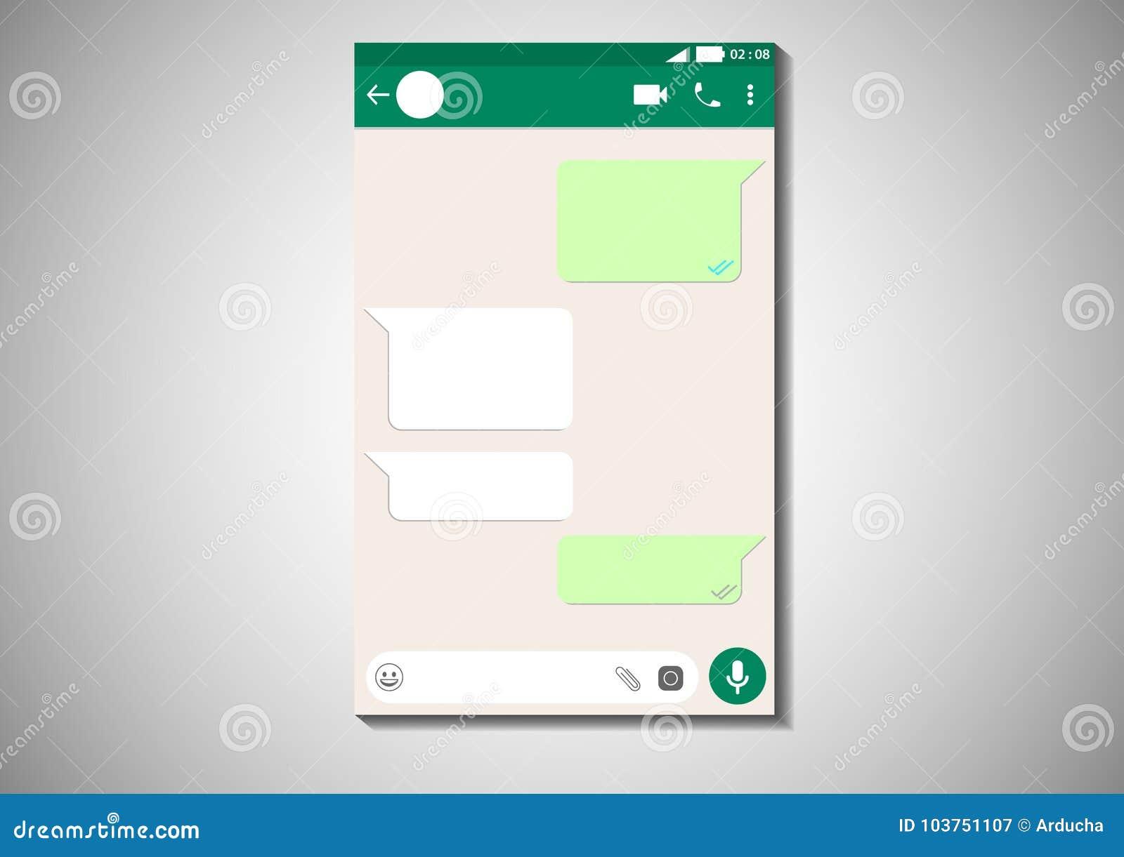 Frame whatsapp messenger stock vector  Illustration of