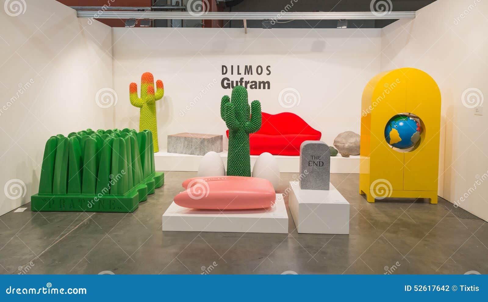 Design Furniture At Miart 2015 In Milan Italy Editorial