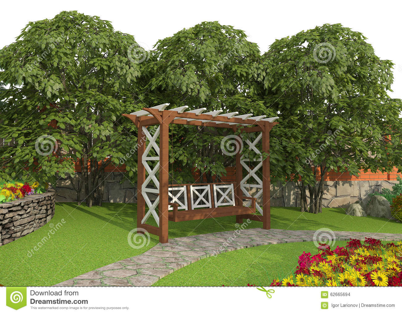 Design a garden plot stock illustration image 62665694 for Layout garden plots