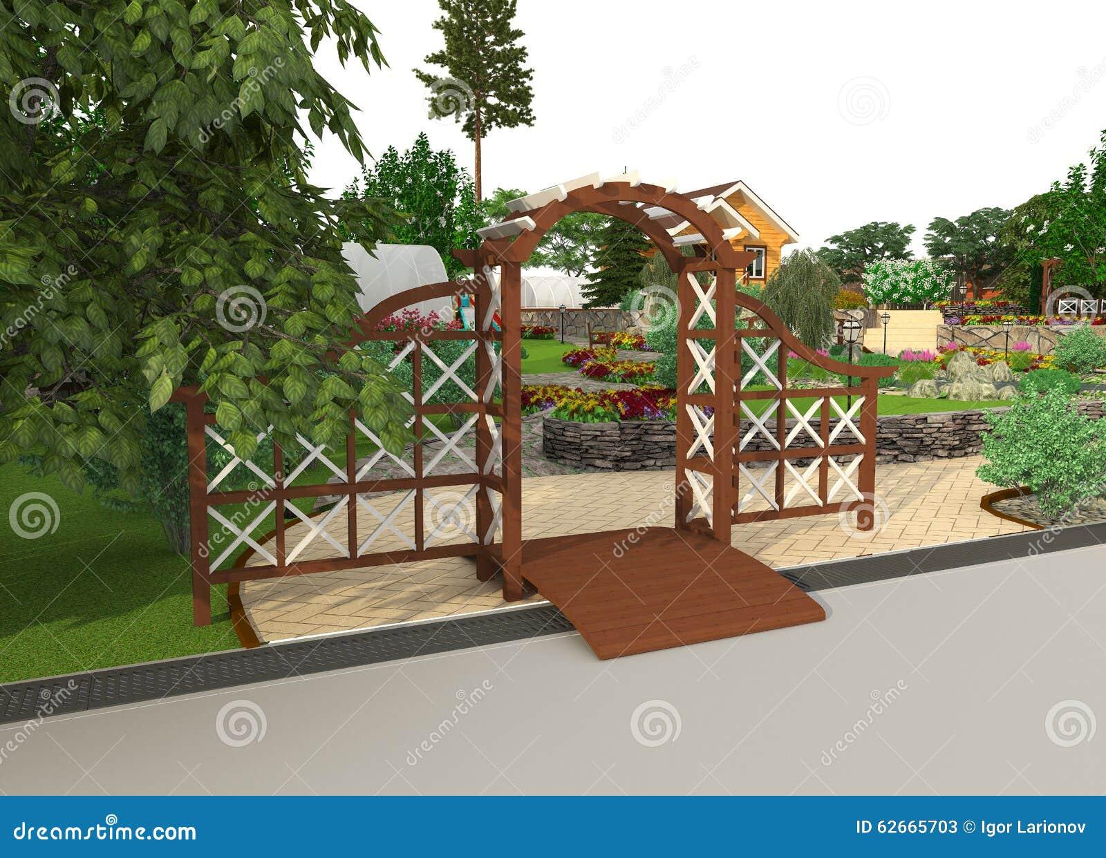 Design A Garden Plot Stock Illustration Image 62665703