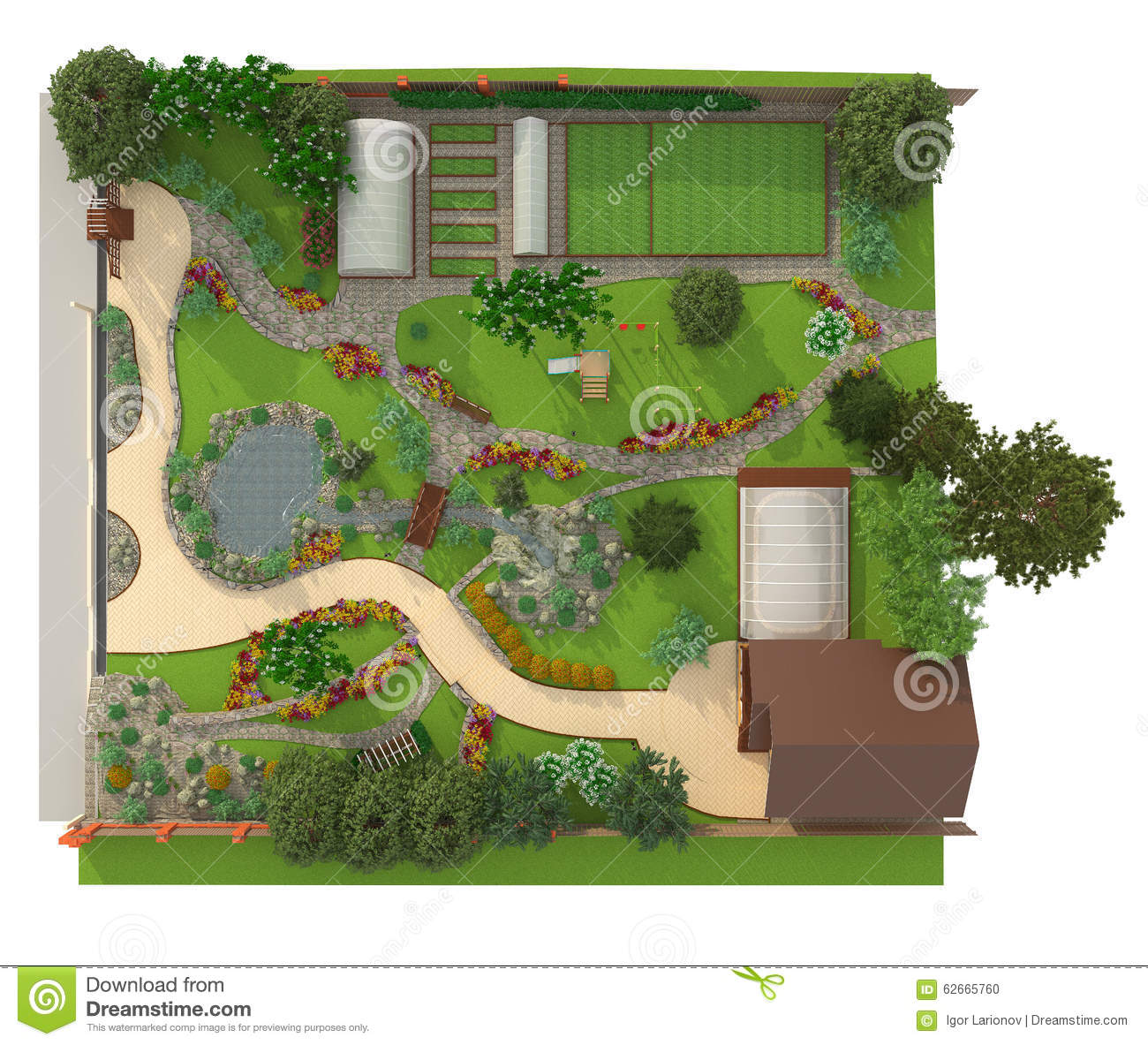 Design a garden plot stock illustration image 62665760 for Garden plot designs