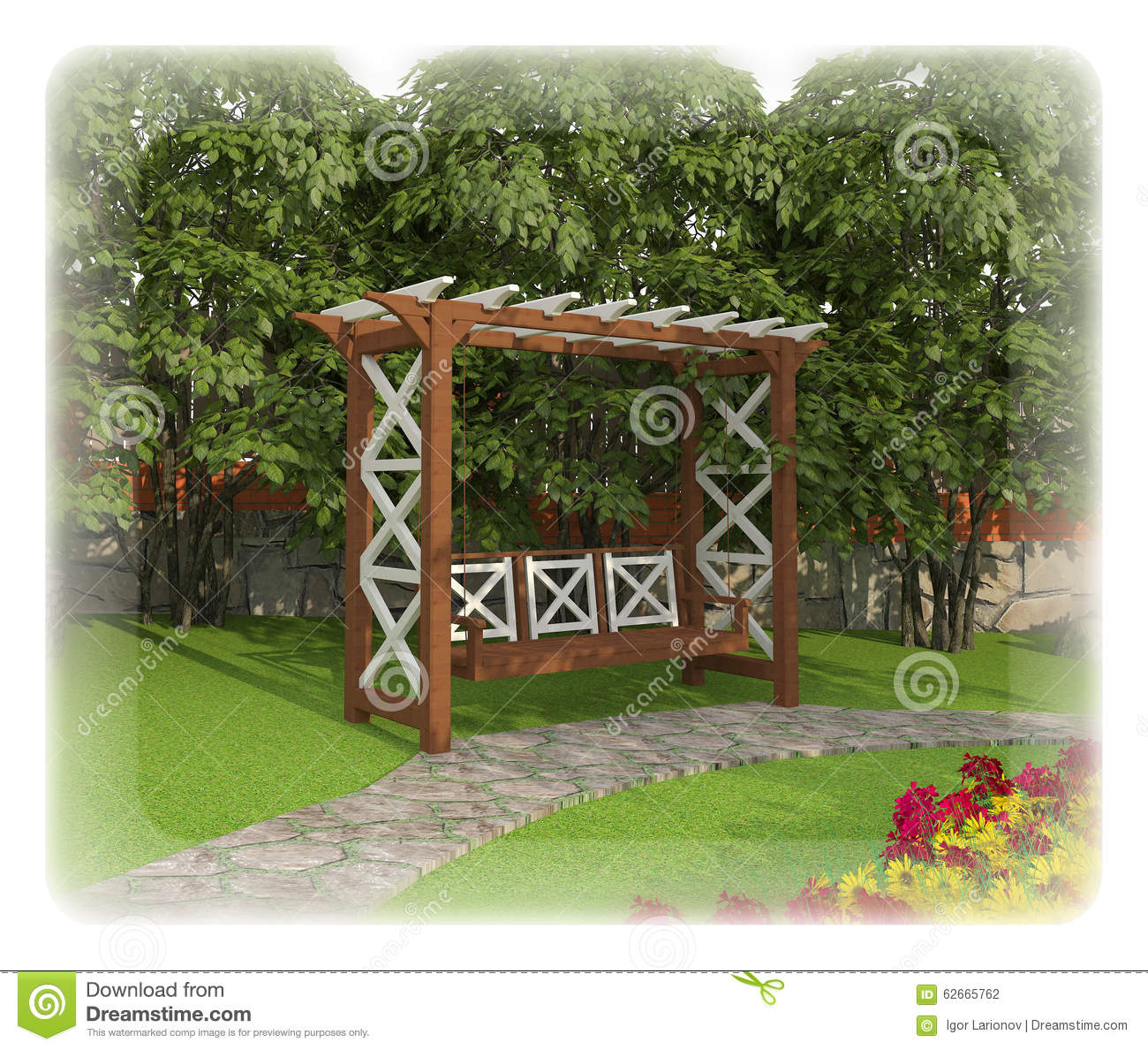 Design A Garden Plot Stock Illustration Image 62665762